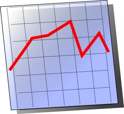 Graph chart clipart.