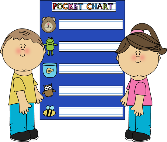 Pocket Chart Clip Art.