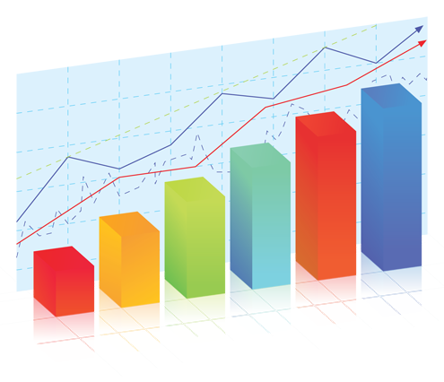 Chart clipart with transparent background.