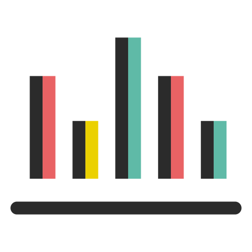 Business graph chart icon.