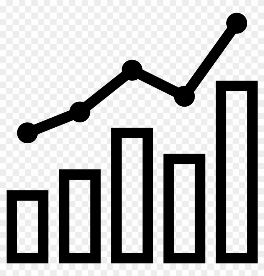 Png Black And White Stock Combo Chart Icon Free Download.