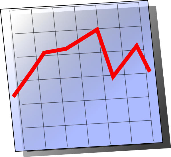 Cartoon Line Graph Clipart.
