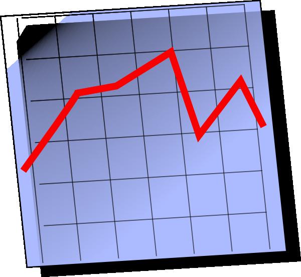 Cartoon Line Graph Clipart.