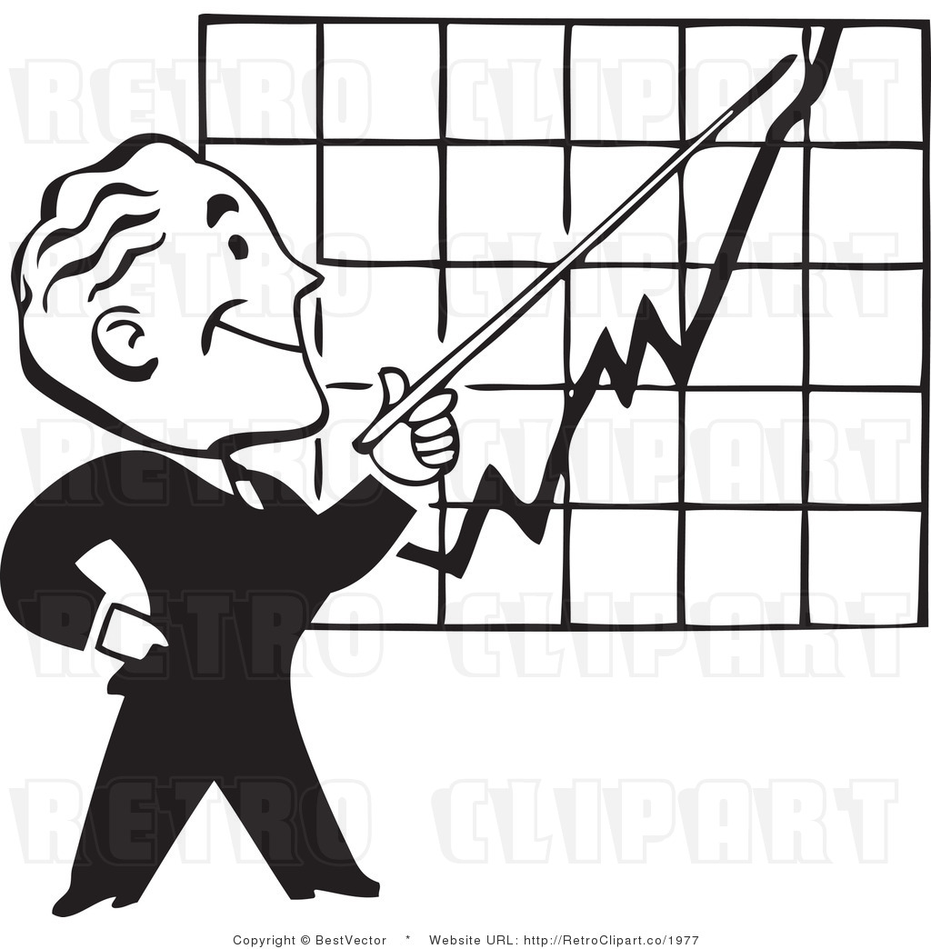 Increasing Line Graph Clipart.