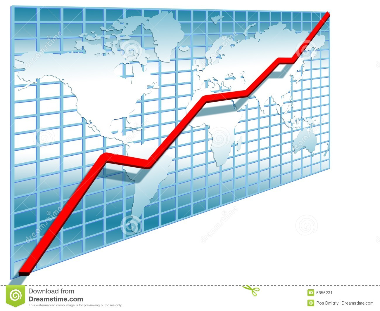 Stock Line Chart Clipart.