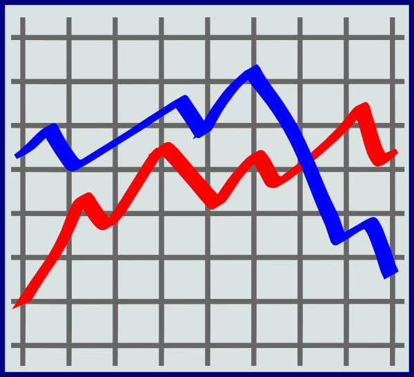 Line graph clip art.