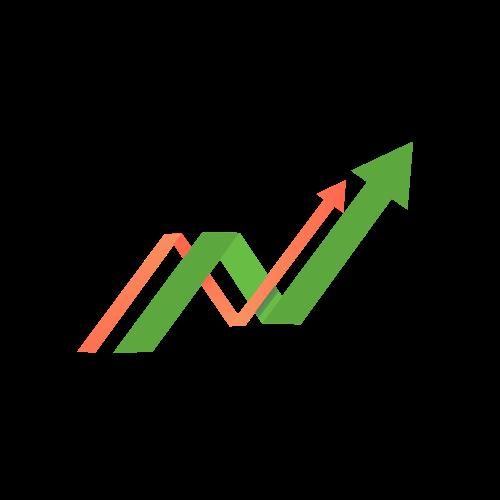 Financial Chart Arrows Logo.
