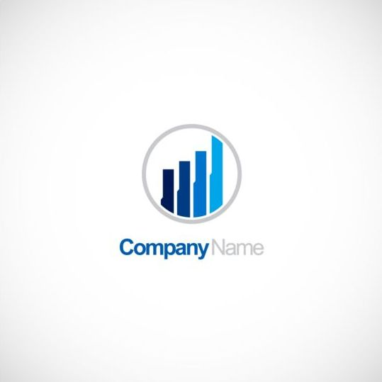 Business finance chart company logo vector free download.