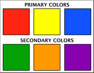 Clip Art: Color Chart 1 Primary & Secondary Color.