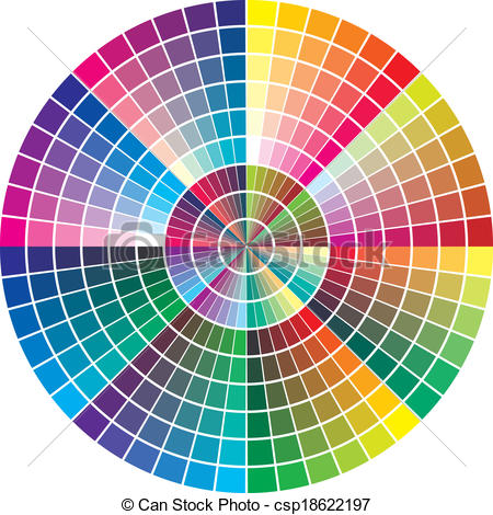 Vector Clip Art of Vector color palette.