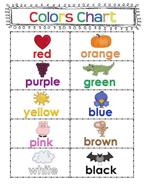 Color charts clipart.