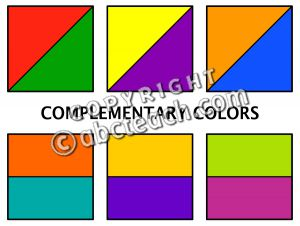 Color art chart clipart.