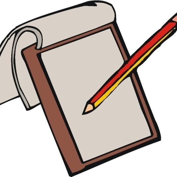 Notebook Paper And Pencil Clipart.