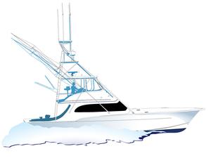 Deep Sea Fishing Boat Clipart.