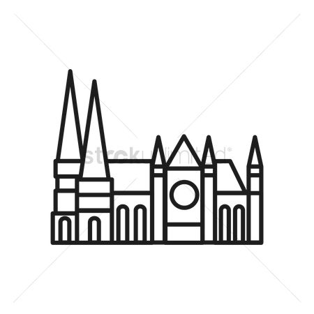 Free Chartres Cathedral Stock Vectors.