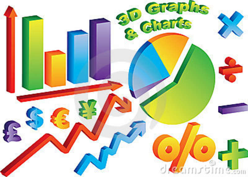 Table and charts clipart.