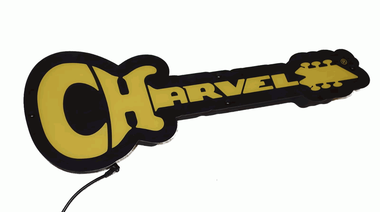 Charvel Logo LED Limited Edition Sign Lights Up Power Supply Inc.