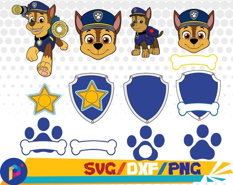 Chase svg,dxf,png/Paw Patrol svg,dxf,png/Paw patrol clipart for  Silhouette,Cricut,Design,Print and any more.