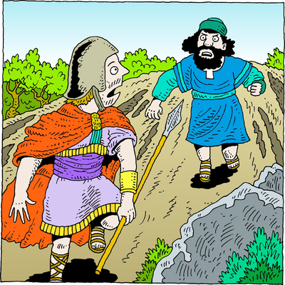 Image: Asahel Chases Down Abner.