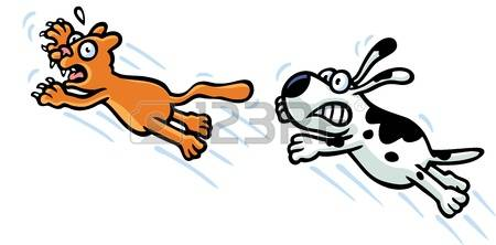 237 Dog Chase Stock Illustrations, Cliparts And Royalty Free Dog.