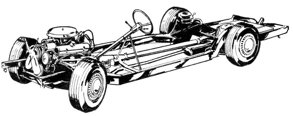 Car chassis clipart.