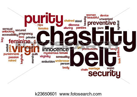 Clipart of Chastity belt word cloud k23650601.