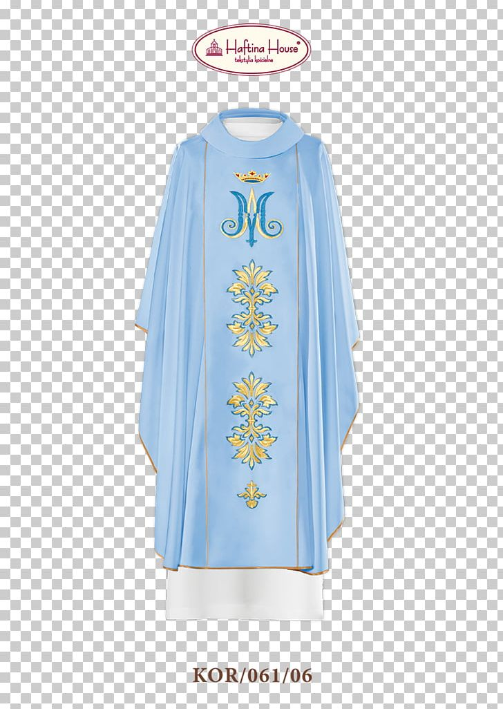 Blue Chasuble Vestment Liturgy Liturgical Colours PNG.