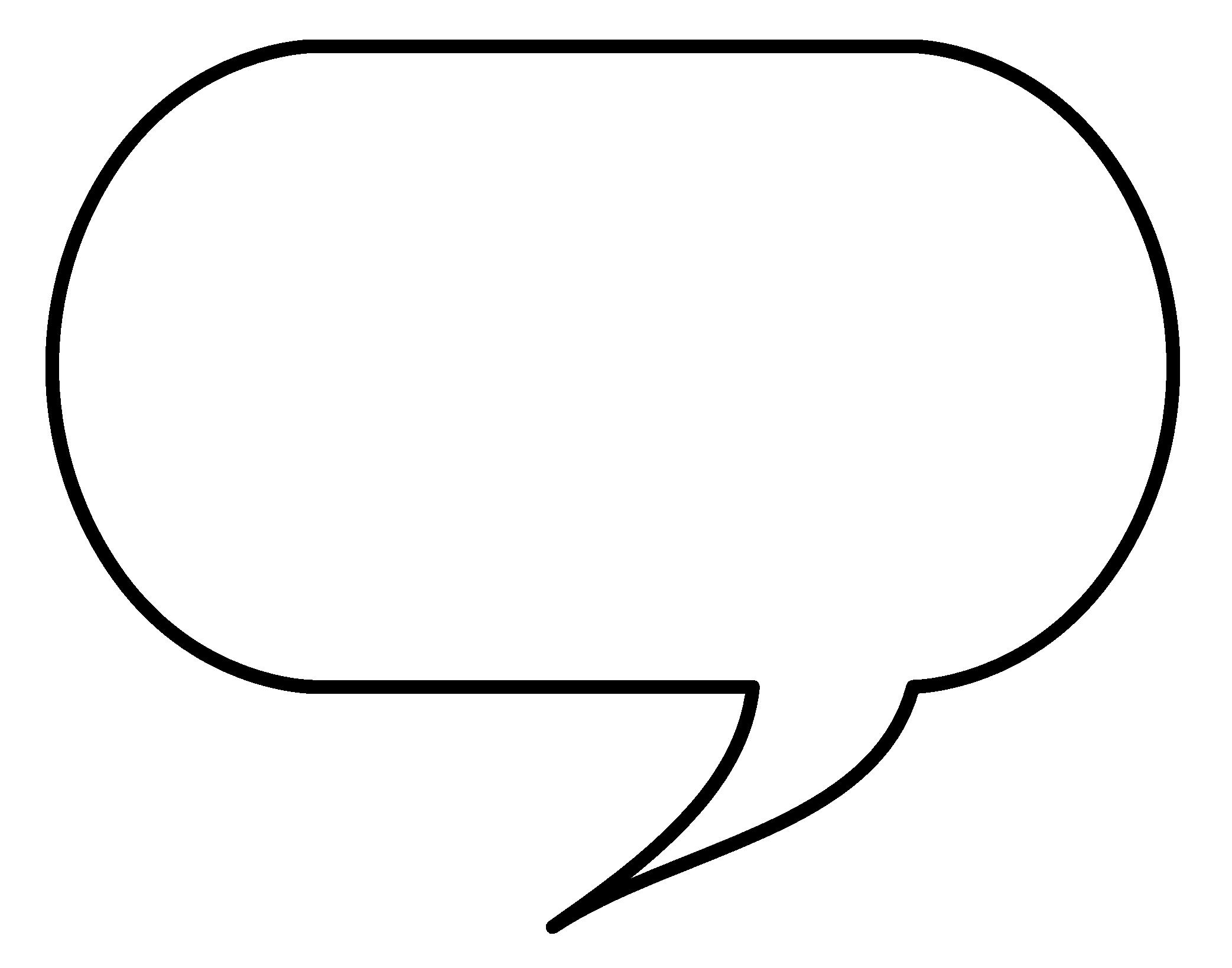 Speech Bubble PNG Image.