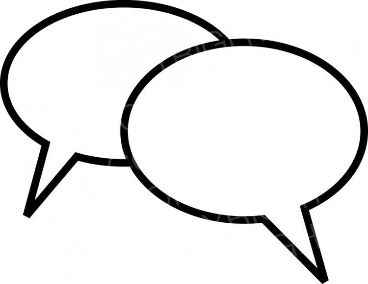 Blank Speech Balloon Comic Chat Bubbles Prawny Communication Clip.