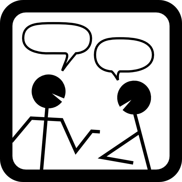 Chat Icon clip art Free vector in Open office drawing svg ( .svg.