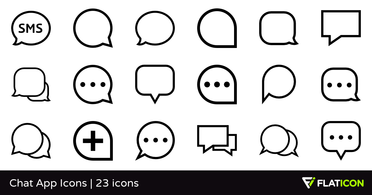 Chat App Icons 23 free icons (SVG, EPS, PSD, PNG files).