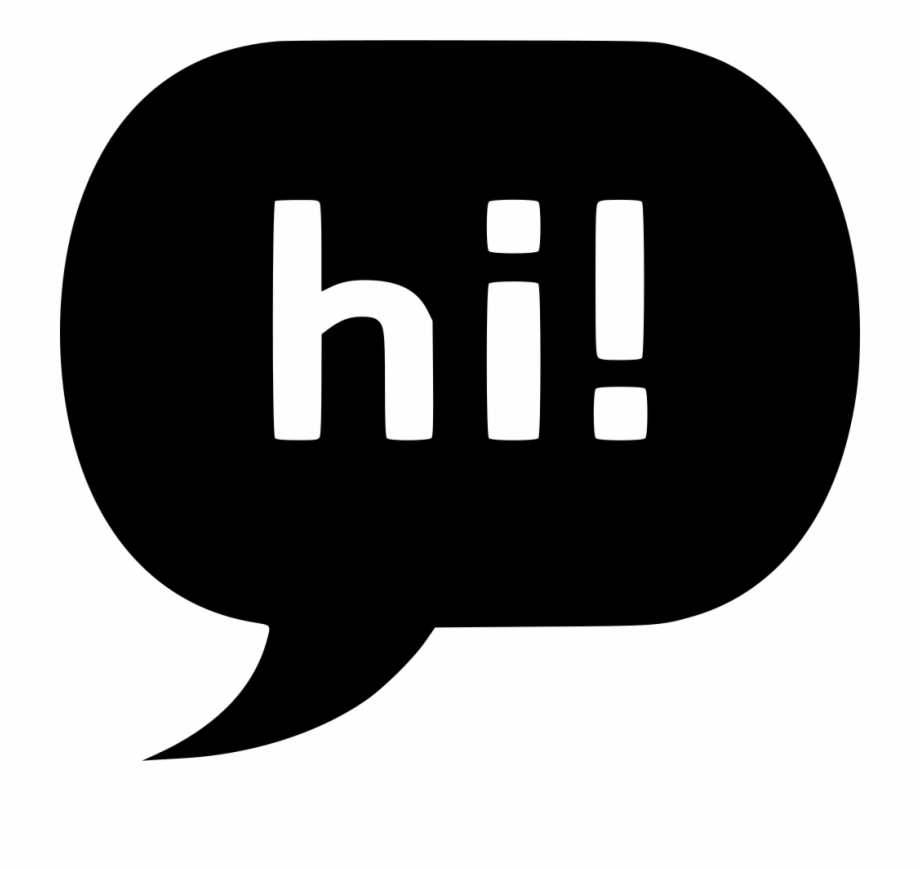 Hi Chat Bubble Svg Png Icon Free Download.