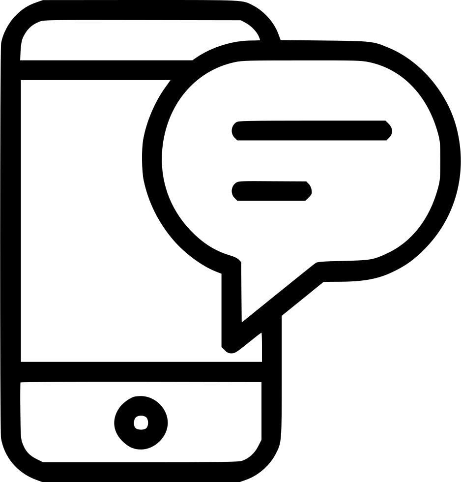 Iphone Mobile Chat Message Sms Svg Png Icon Free Download (#571130.