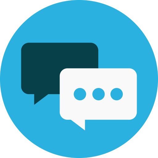 Chat, keynote, messages icon.