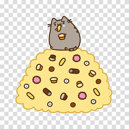 Pusheen, pusheen cat chat sticker transparent background PNG.