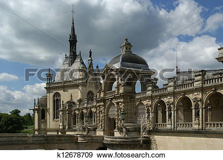 Stock Photograph of Chateau de Chantilly, France k12678709.