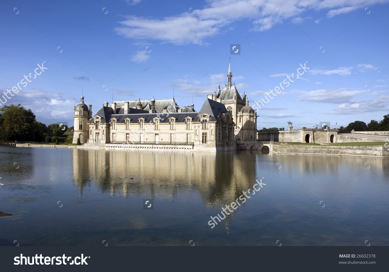 Chateau De Chantilly ( Chantilly Castle ), Oise, Picardie, France.