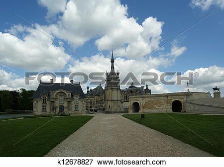 Picture of Chateau de Chantilly, France k12678827.