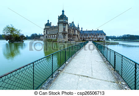 Stock Photography of Chateau de Chantilly (France). The Petit.