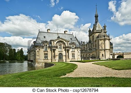 Stock Photographs of Chateau de Chantilly ( Chantilly Castle.