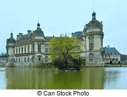 Stock Photo of Chateau de Chantilly.