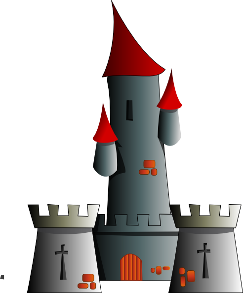 Chateau Citadel Fort Castle clip art (106476) Free SVG Download / 4.