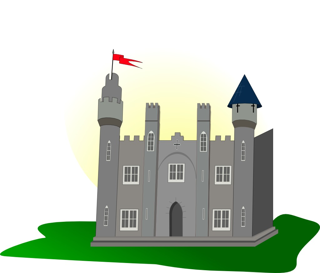Clipart chateau fort.