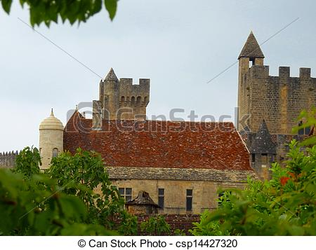 Stock Photo of 13th Century French Chateau.