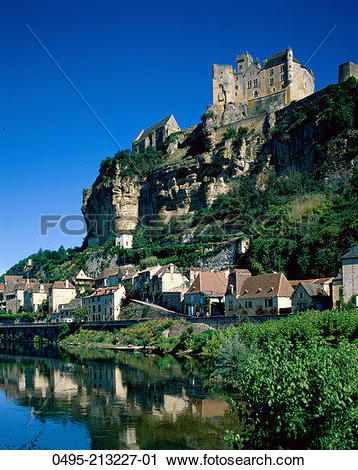 Stock Photography of France, Chateau de Beynac & The Dordogne.