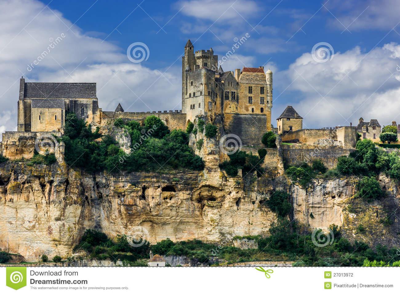 Chateau De Beynac France Stock Photography.