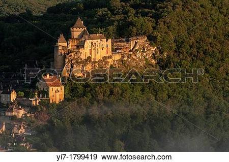 Stock Photograph of Ch?teau de Castelnau, Dordogne, Perigord noir.