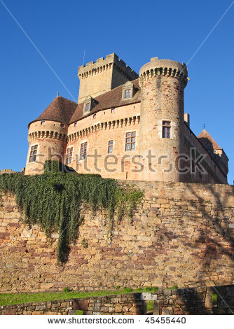 French Medieval Castle Stock Photos, Royalty.