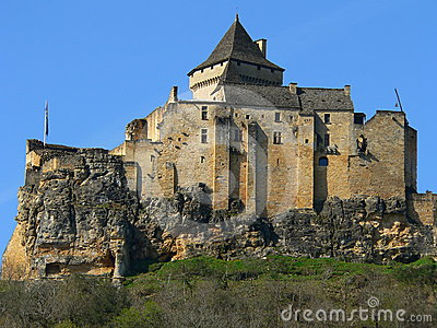 Chateau De Castelnaud Royalty Free Stock Image.
