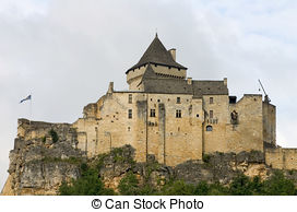 Stock Image of Castle of Castelnaud, France.